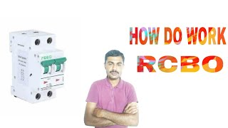 How does work rcbo circuit breaker