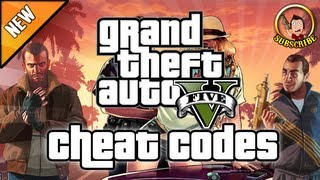 Grand Theft Auto 5 - Xbox 360 And Ps3 Cheat Codes (Cheats), Vehicles, Player Effects And Weapons