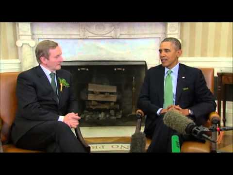 Obama Welcomes Irish P.M. to the White House