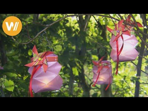 Gartenlampions selber machen
