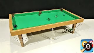 How to Make 8 Ball Pool  Snooker table Game from Cardboard