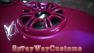 Fiberglass Rear Deck With Speakers Mounted / Outrageous Paint On 2001 Deville - Part 7