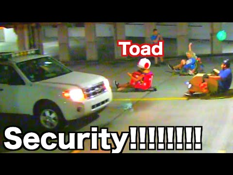 Mario Kart Longboarding (CHASED By Security)