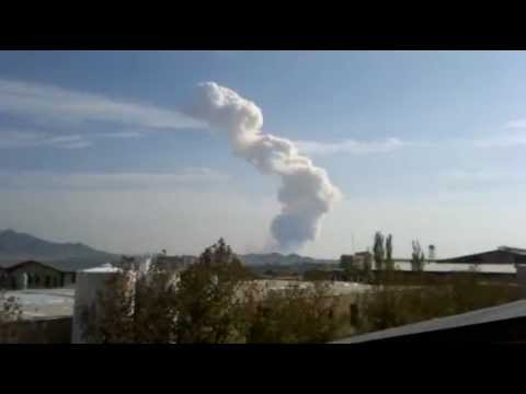 Amateur video shows aftermath of huge explosion at Iran military base near Tehran