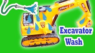 Excavator videos for Children - Excavator Wash  Kids | Construction Vehicles for Kids - Toy Cars Jcb