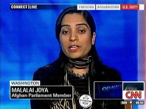 Malalai Joya interview with CNN: US Get OUT of Afghanistan