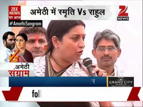 Smriti Irani holds 'kisan panchayat' in Rahul Gandhi's Amethi