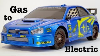 How I Convert an rc SUBARU Gas Rally car into Electric.