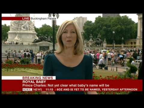 BBC News - Report from Buckingham Palace about the birth of the Royal Baby 23/07/2013