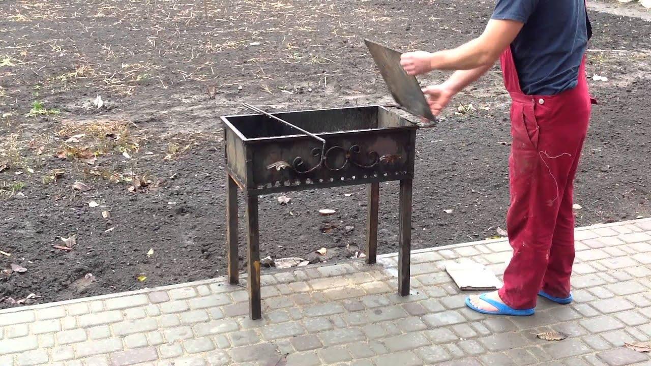 Мангал своими руками из металла со сваркой и без: складные и 80