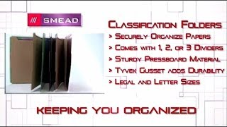 "Smead 2-1/2"" Expansion Heavy-Duty Poly Classification Folders, Letter, 10/Box"