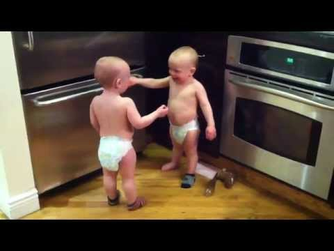 Talking Twin Babies - PART 2 - OFFICIAL VIDEO Subscribe to our channel: http://bit.ly/1u8TDJP Twin baby boys have a conversation part 2. find more of the boy...