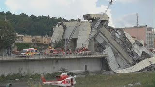 Italy bridge collapse in Genoa leaves at least 22 dead