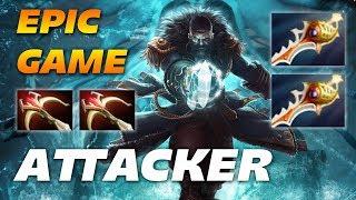 Attacker Kunkka | EPIC MEGACREEPS GAME | Dota 2 Pro Gameplay