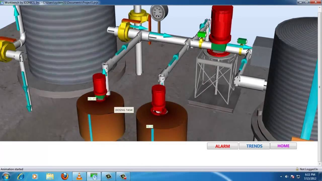 3d Scada Design For Water Purification System Youtube