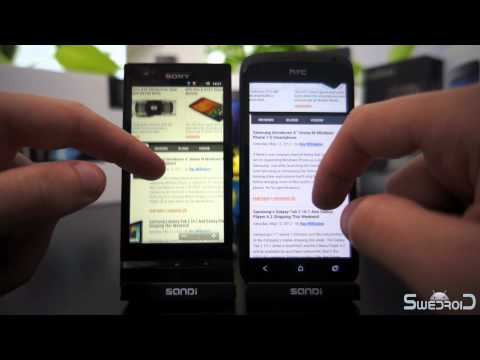 Sony Xperia P vs HTC One S browser comparison