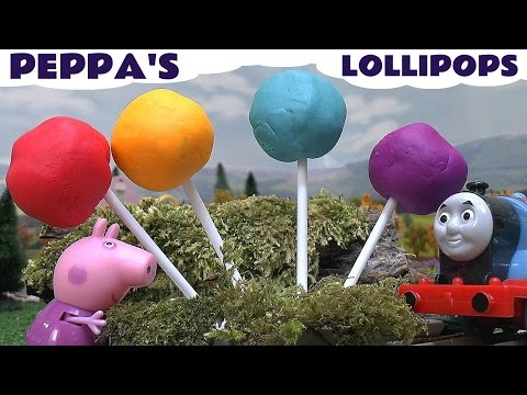 Peppa Pig Play Doh Surprise Lollipops Thomas & Friends Princess Disney Toys Pepa Cars Play-Doh