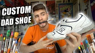 How to Customize Thrifted Dad Shoes! Full Tutorial Ft. New Balance 654