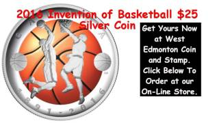 2016 Invention of Basketball $25 Silver Coin