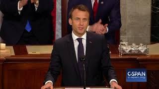 French President Emmanuel Macron Addresses Congress - FULL SPEECH (C-SPAN)