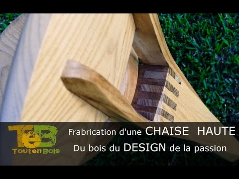 travail du bois fabrication d 39 une petite chaise design youtube. Black Bedroom Furniture Sets. Home Design Ideas
