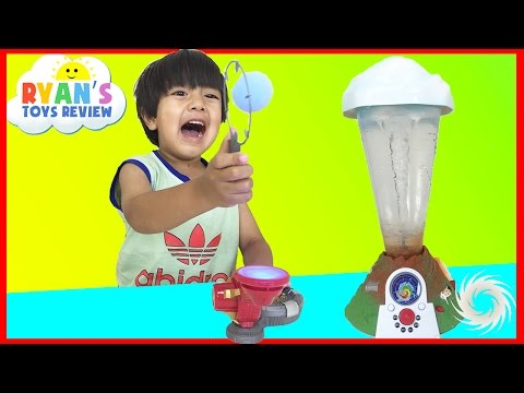 Marvel Science Iron Man Repulsor Ray Tech Lab and Tornado Maker Toys for Kids Ryan ToysReview