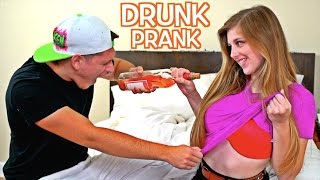 DRUNK GIRLFRIEND PRANK ON BOYFRIEND!