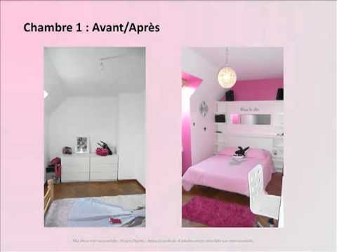 D co chambres youtube for Idee de chambre fille