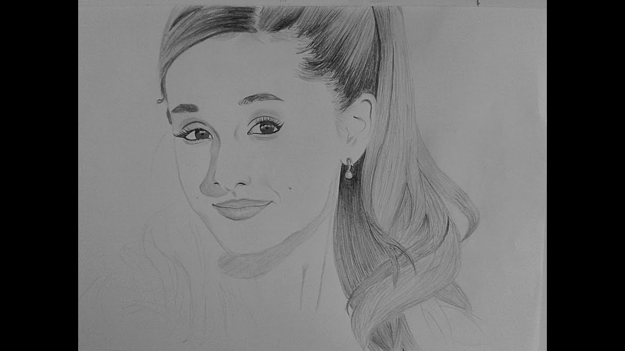 Dibujando a Ariana Grande - YouTube