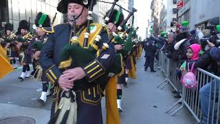 St. Patrick's Day Parade~2018~NYC~NYPD Emerald Society Pipes and Drum Band~NYCParadelife