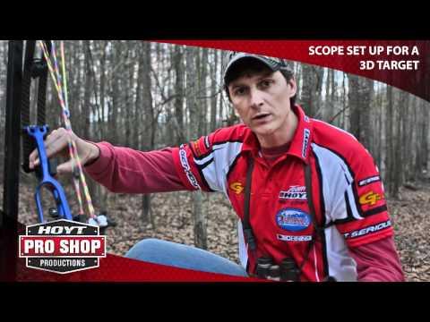Scope set-up for 3D archery target