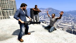 GTA V Franklin And Michael kills Trevor