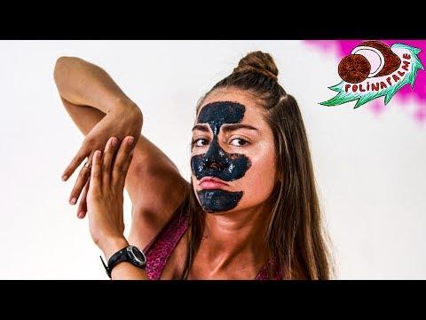 Чёрная маска для лица с клеем ПВА и активированным углём в домашних условиях от 🌴 POLI NA PALME