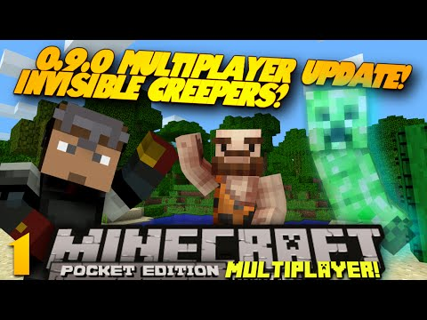 Minecraft PE Multiplayer 0.9.0 EP 1 HIDDEN MOBS PE SMP w Sean Minecraft Pocket Edition Series