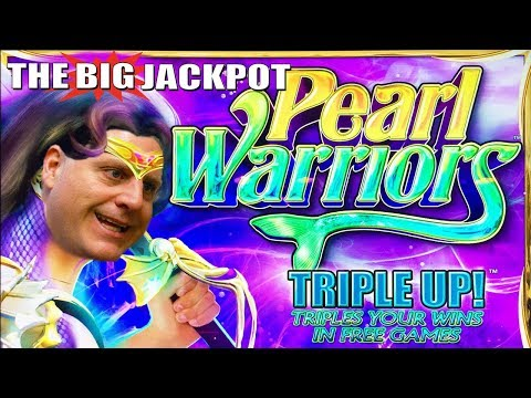 ★ JACKPOT HANDPAY ★ PEARL WARRIORS @ $20 / Spin with The Big Jackpot