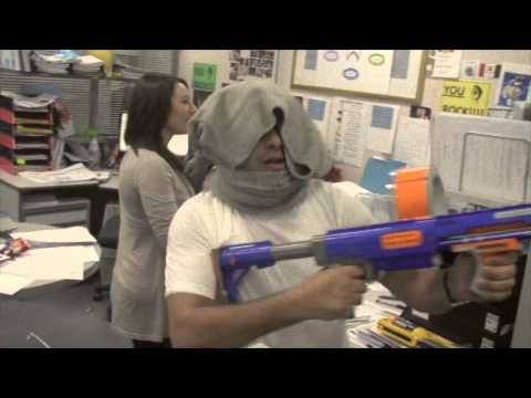 Crazy Office Nerf War - Kids vs. Adults!