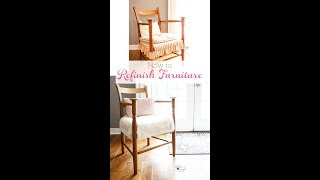 How to Refinish Furniture - DIY Chair Makeover