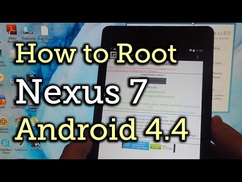 Root Your Nexus 7 Tablet (2013) Running Android 4.4 KitKat - Windows Guide [How-To]