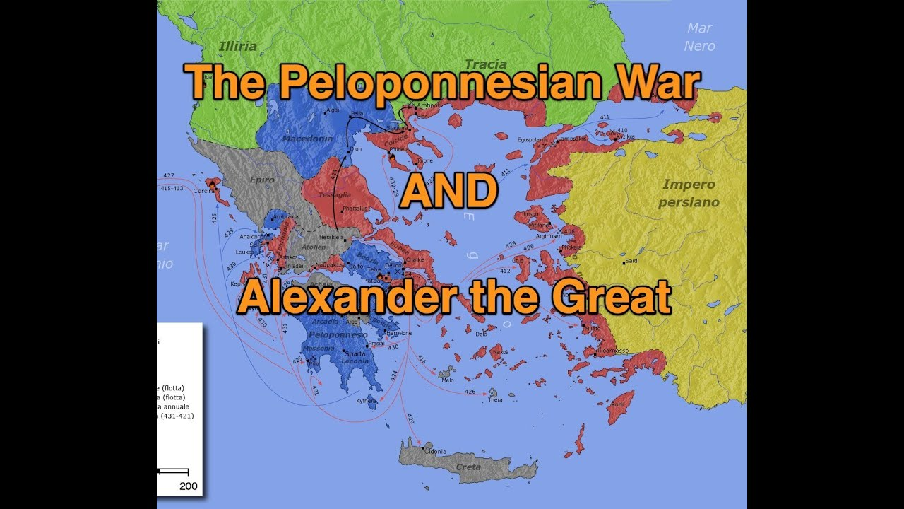 peloponnesian war and alexander the great in 8 minutes