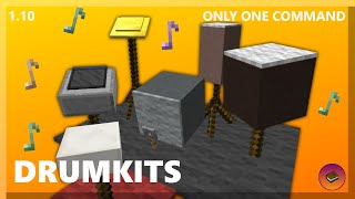 PLAY ON A DRUMKIT in only one command! [Minecraft 1.10]