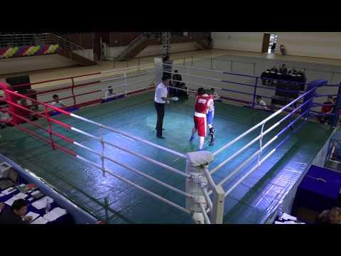 Чемпионат РК по боксу, 2014, финал. 60 kg, Сафиуллин - Мусафиров