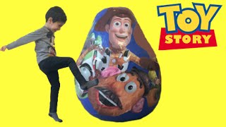Toy Story GIANT Surprise Egg Opening - Buzz Lightyear, Woody, Jessie and Mr. Potato Head Toys
