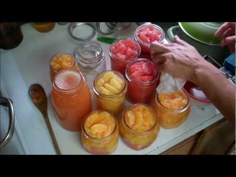 Canning Gratefruit, Oranges and Mandarins
