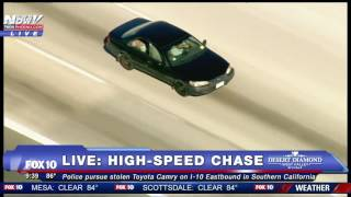 FNN: High-Speed Chase Ends With Stand Off on I-215 Freeway, Man With Stick Vs. Cops
