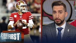 Jimmy G's turnovers proved why 49ers aren't atop the NFL in Seahawks loss | NFL | FIRST THINGS FIRST