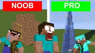 Monster School - NOOB vs PRO CHALLENGE - Minecraft Animation
