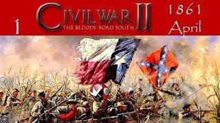 American Civil War 2 (AGEOD) | CSA Let's Play | April 1861 | Part 1