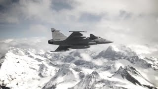 Saab - Gripen C Fighters Live Firing At Axalp-Ebenfluh Range [720p]