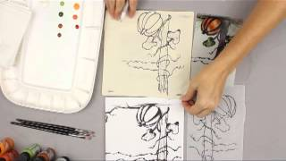How to Paint with Pen & Ink Tutorial - Part 1