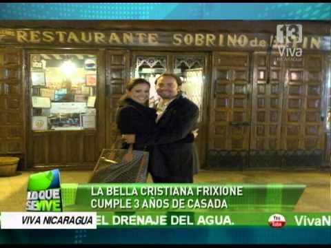 La bella Cristiana Frixione cumple 3 años de casada